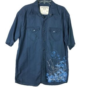 Canyon River Blues short sleeve shirt men's size S